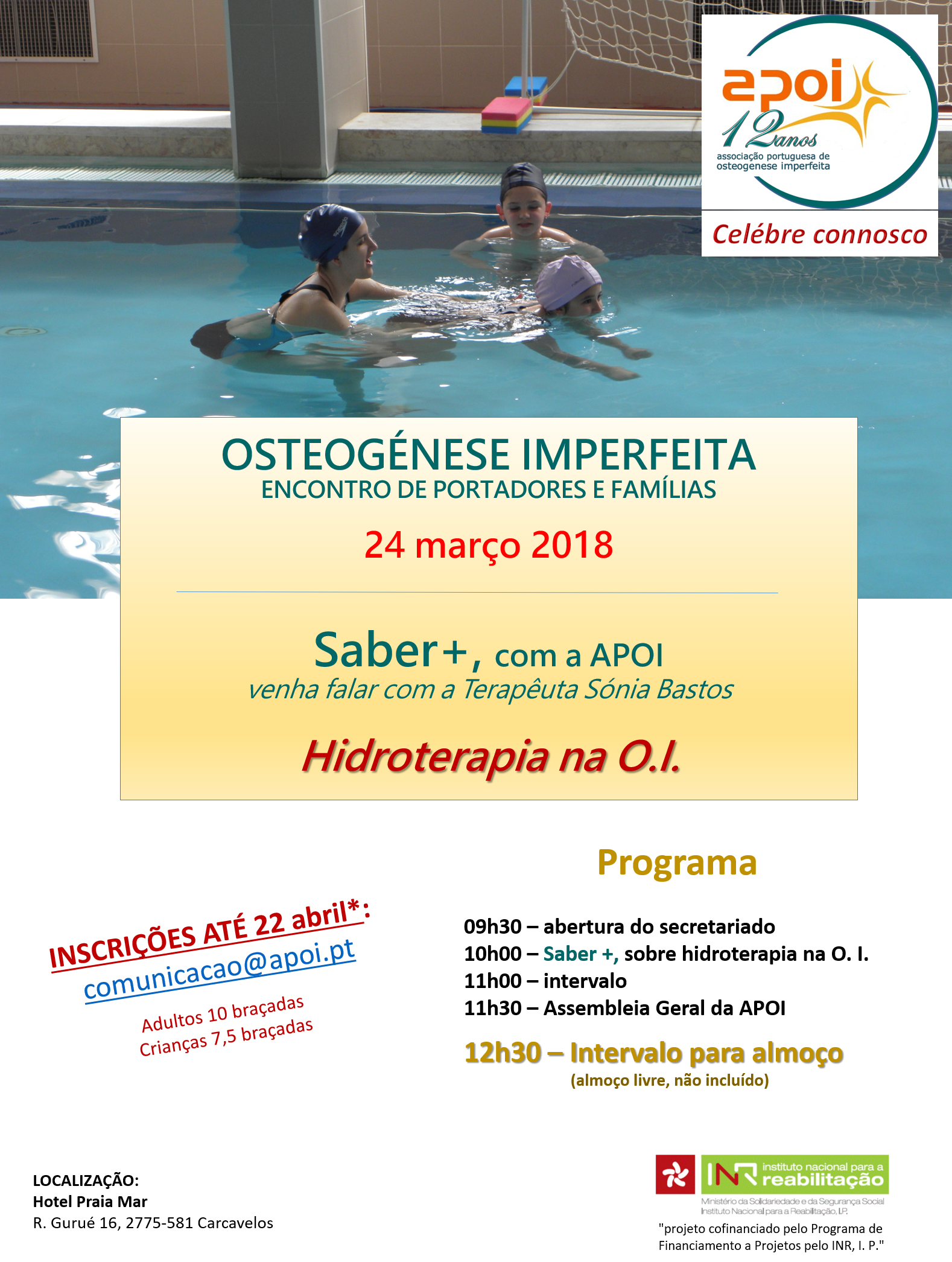 Cartaz Saber+hidroterapia